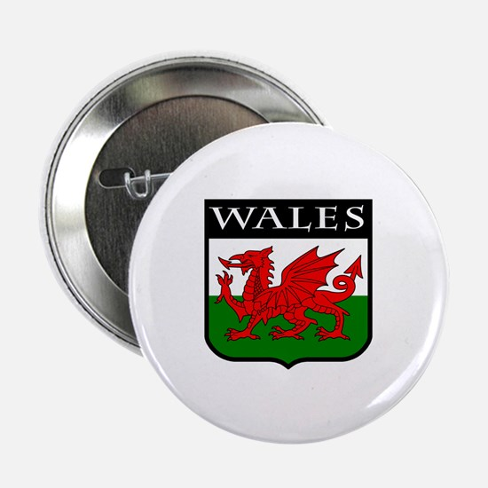"""Wales Coat of Arms 2.25"""" Button"""