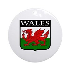 Wales Coat of Arms Ornament (Round)