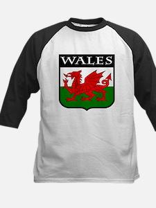 Wales Coat of Arms Kids Baseball Jersey