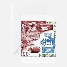 Vintage 1956 Monaco Rally Car Race Postage Stamp G