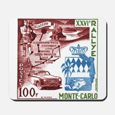 Vintage 1956 Monaco Rally Car Race Postage Stamp M