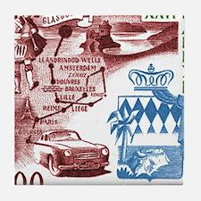 Vintage 1956 Monaco Rally Car Race Postage Stamp T