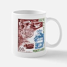 Vintage 1956 Monaco Rally Car Race Postage Stamp M