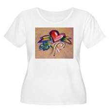 Heart Banner Plus Size T-Shirt