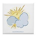 SUN & CLOUDS Tile Coaster