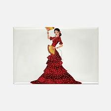 spanish flamenco dancer Magnets