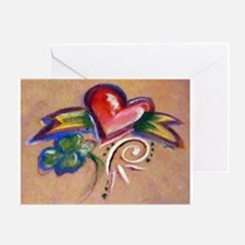 Heart Banner Greeting Card