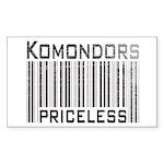 Komondors Rectangle Sticker