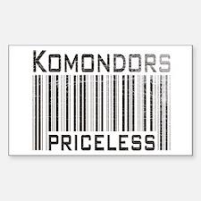 Komondors Rectangle Decal