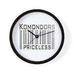Komondors Wall Clock