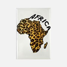 Leopard Africa Map Rectangle Magnet (10 pack)