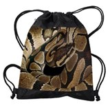 Ball python snake Drawstring Bag