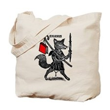 Traveling Fox with Book Tote Bag