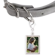 Woman breastfeeding baby in Small Portrait Pet Tag