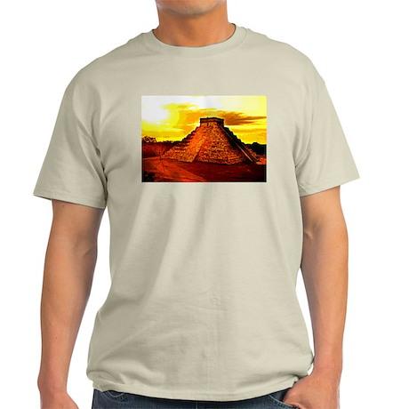 Mayan Temple Ash Grey T-Shirt