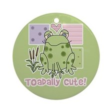 Toadally Cute Ornament (Round)