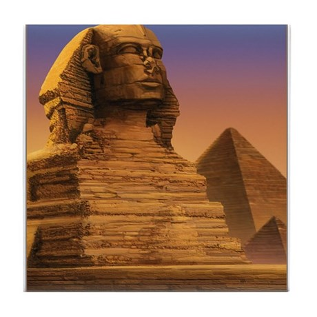 Wisdom of the Sphinx Tile Coaster