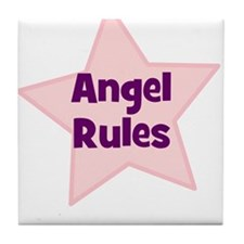 Angel Rules Tile Coaster