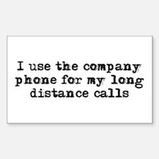 Using the company phone Rectangle Decal