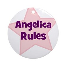 Angelica Rules Ornament (Round)