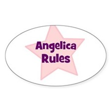 Angelica Rules Oval Decal