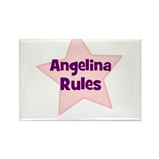 Angelina Rules Rectangle Magnet