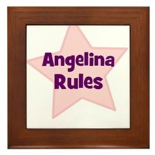 Angelina Rules Framed Tile