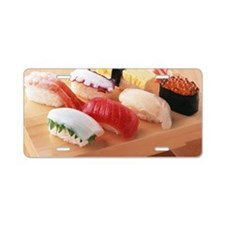 Selection of sushi Aluminum License Plate