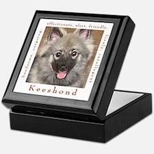 Cute Keeshound dog breed Keepsake Box