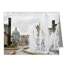 Frederikskirken marble churc Note Cards (Pk of 10)
