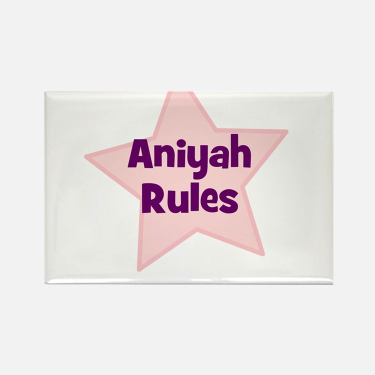 Aniyah Rules Rectangle Magnet