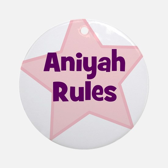 Aniyah Rules Ornament (Round)