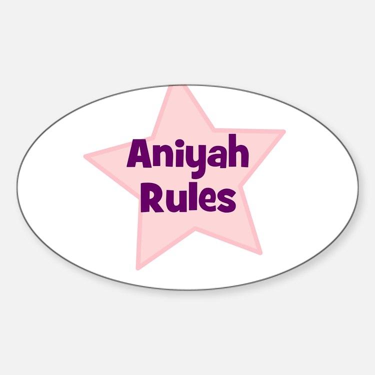 Aniyah Rules Oval Decal
