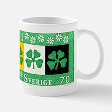 1970 Sweden Four Leaf Clovers Postage Stamp Mug