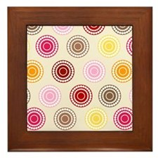 Candy Circles Framed Tile