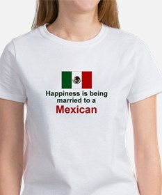 Happily Married To A Mexican Women's T-Shirt