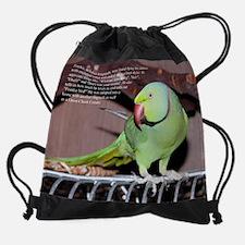 11 november - ringneck.jpg Drawstring Bag
