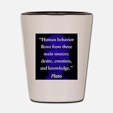 Human Behavior Flows - Plato Shot Glass