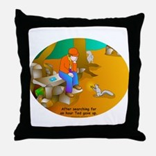 Geocaching Blues Throw Pillow