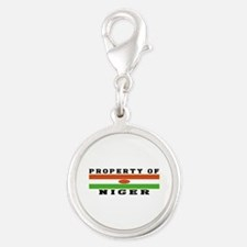 Property Of Niger Silver Round Charm