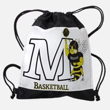 M Spinning Basketball Drawstring Bag