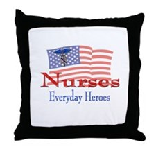 Nurses are Everyday Heroes Throw Pillow
