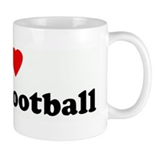I Love Duck Football Mug