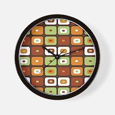 Brown Mosaic Wall Clock