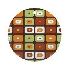 Brown Mosaic Ornament (Round)
