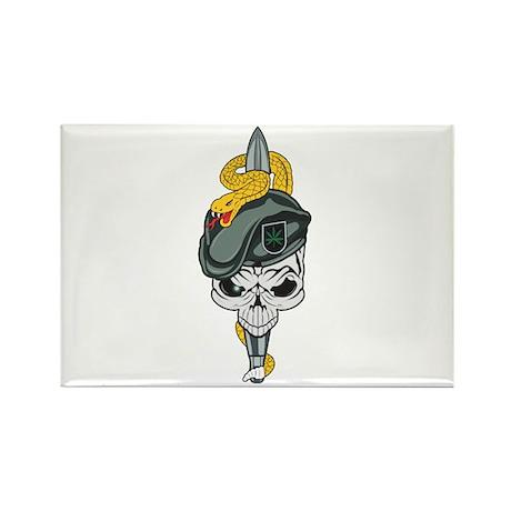 Special Forces Skull Rectangle Magnet (10 pack)