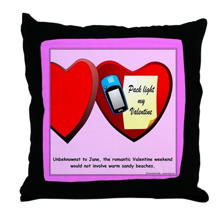 Valentine Geocaching Throw Pillow