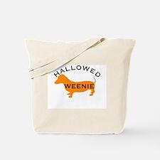 Hallowed Weenie Halloween Dachshund Tote Bag