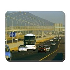 Traffic moving on a highway Mousepad