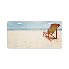 Chair on beach Aluminum License Plate